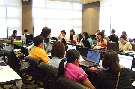 Local teachers learn how best to use eBooks in their classrooms.