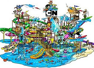 An artist's rendering of the Cartoon Network Amazone water park, now under development in Thailand. (Photo courtesy Cartoon Network)