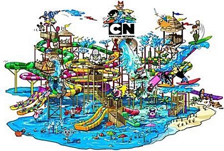 An artist's rendering of the Cartoon Network Amazone water park, now under development in Thailand. (Photo courtesy Cartoon Network)