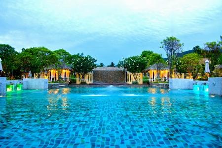 Pool view at the Centara Koh Chang Tropicana Resort.