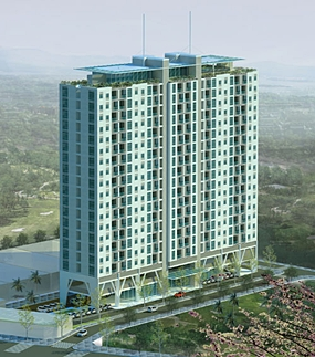An artist's rendering shows the proposed Hoa Sen Apartment building in Ho Chi Min City.  Vietnam's property market has stalled due to rising interest rates. (Photo/Nhaban.com)