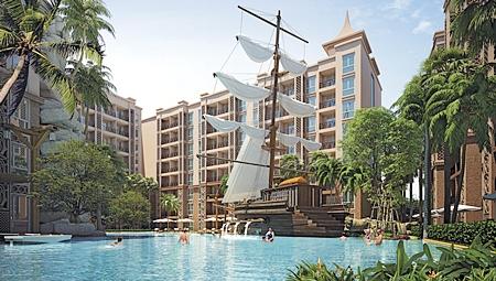 Artist's renderings of the Atlantis Condominium.