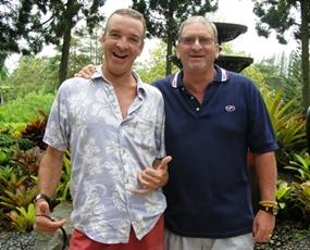 Tuesday flight winners: Jerry Dobbs, left, with Peter Blackburn.