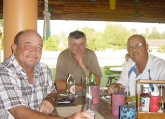 Aussie trio, Norm, Tony & Pat 'the NTP Marauder'.