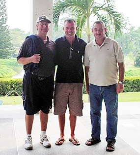 Monday's three division winners from Khao Kheow: Ron Miller, Dennis Scougal and Willy Van Heetvelde.