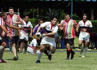 Pattaya 10's rugby takes place at Horseshoe Point, May 5-6, 2012.