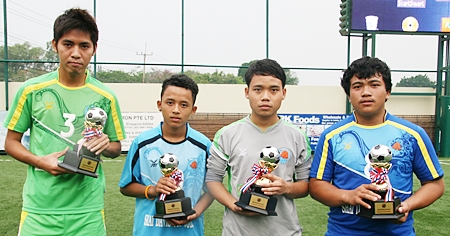 Trophies were awarded to the best player in each team.