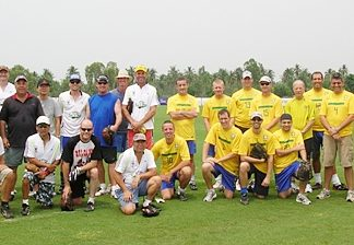 Team PSC and The Teachers pose for a group photo at Thai Polo Club.