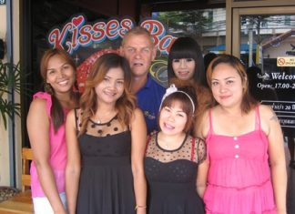 Martyn with the staff from Kisses Bar.