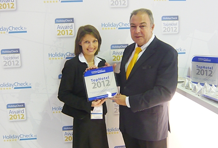 The Thai Garden received the prestigious Top Hotel 2012 Award from Holiday Check for achieving 99% guest satisfaction.