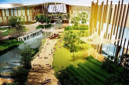 An artist's impression shows the Promenada Resort Mall Chiang Mai.