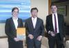 (Left-right): Anne Schlagel, Country Director, OBG; Vorapol Socatiyanurak, Secretary-General, SEC; and Alex Gordy, Editorial Manager, OBG.