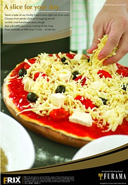 Delicious oven-baked pizzas at Furama Jomtien Beach.