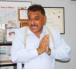 Peter Malhotra blesses company employees, saying he considers the entire company to be one big family.