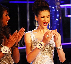 The moment of truth, when Panwilas Mongkol learns she's won!