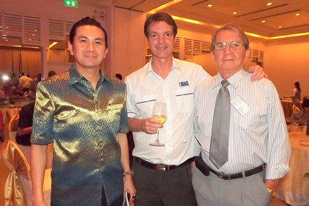 (L to R) Saksit Potisit, spokesman for City Hall; Uli Kaiser, Automotive Manufacturing Solutions; and George T. Strampp, managing partner of Automotive Manufacturing Solutions.