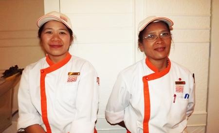 Amari staff Meha Limlertrat and Piyada Thala provide excellent service.