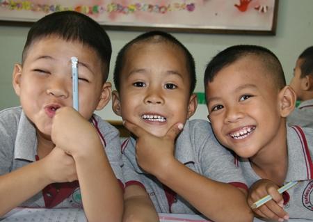 The money raised will help the children of Pattaya.
