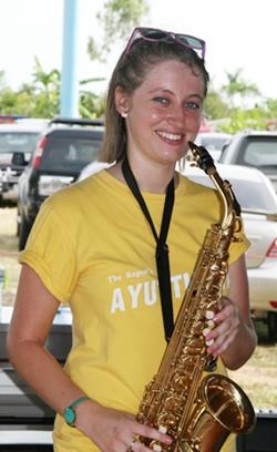 Karen Partyka, event organiser, music teacher and saxophonist extraordinaire.