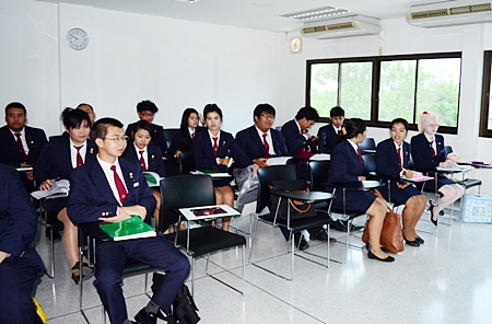 Students gain their textbook knowledge in modern classrooms.