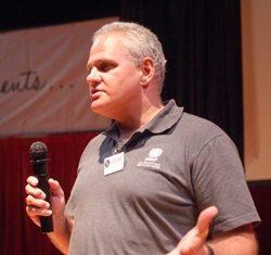 Mr. Matt Friedman takes to the Regent's stage.