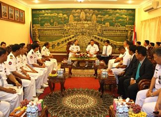 Top brass from both navies hold discussions in Sihanoukville.