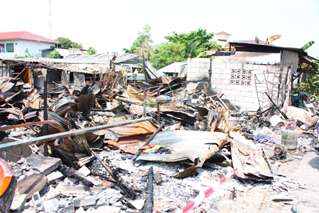 Four homes were destroyed and 3 others damaged by fire April 28 in the Thamsamakkee Temple area.
