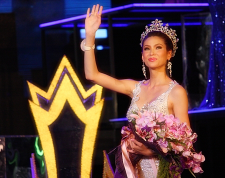 Panwilas Mongkol wishes her father could have been there to see her win the Miss Tiffany Universe pageant.