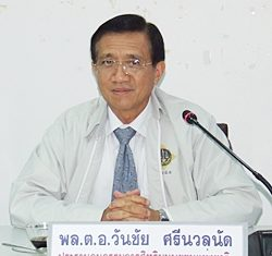 Gen. Wanchai Srinuannad, head of the Senate Human Security Committee.