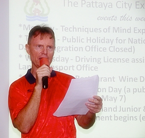 Pattaya City Expats Clubs meeting for the 29th of April was MC'd by new MC, Ren Lexander of Australia. Following general notices and new guest introductions, Ren introduced Michael Flinn to discuss the 'Evolution of Consciousness'.