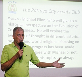 Michael discusses the evolution of consciousness and the origin of world religion with PCEC members and guests. A lifelong student of the field, Michael is still seeking the answers to life's questions.