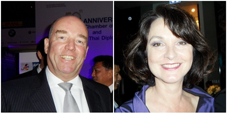 Germany's Ambassador Rolf Schulze and wife Petronella.