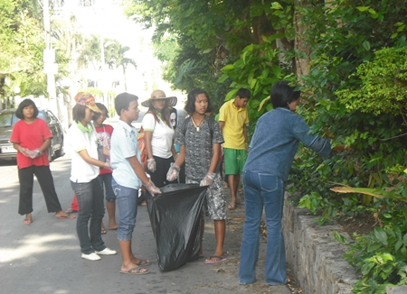 It's a community effort to rid the area of thoughtless litter.