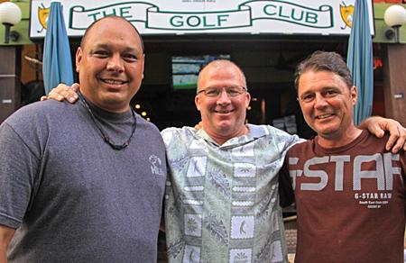 Kalani, John Emmerson and Mark Wood.