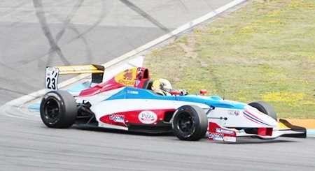 Stuvik drives his car to 10th position in the opening race of the season.