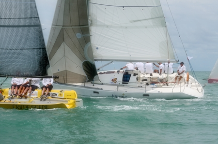 """""""Crime Scene"""", left, and """"Magic"""", right, were winners in the Sports Boat and IRC 2 categories respectively."""
