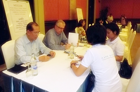 Representatives from European tourism offices provide advice to Pattaya and Chonburi businesses.