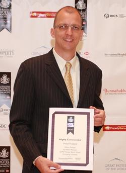 Harald Feurstein, general manager, Hilton Pattaya accepts the prestigious award.