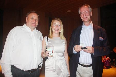 Dr. Jan Chris Von Koss, Jane Bailey and Dieter Reigber.