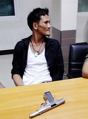 Sompong Koyangphuak has been charged with illegal weapons possession.