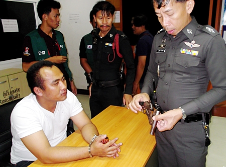 Attempted murder charges were dropped, but ex-police volunteer Sakda Kaewwiset will still need to face charges of possessing an illegal weapon.