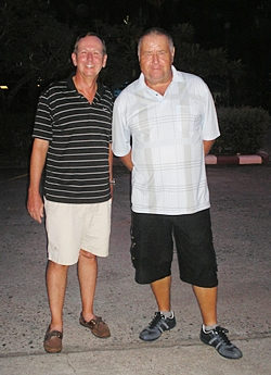 Mike Missler and Joe Kubon - winners on Friday at Eastern Star.