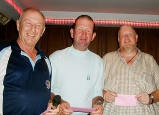Sunday's winners Brian and Sean with Colin the Golf Manager.