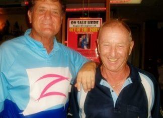 Sunday's winner Lou, left, with Colin Davis.