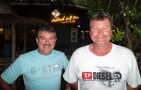 Greg Kennedy (left) & Bruce Campbell (right) took 1st and 2nd at Khao Kheow.
