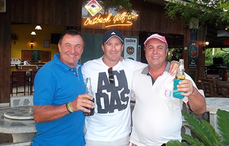 Friday winners, from left: Joachim Oestreicher, Geoff Christie & Gary Saunders.