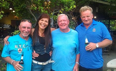 Friday's winners, from left, Sugar (winner Div C), Lamun (3rd Div B), Joe (winner Div B) and Craig (winner Div A).