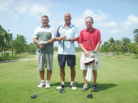 Alan Pilkington, Pete Sumner and Chris Voller at Pattana.
