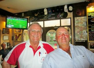 Tuesday's top 2, Bob Watson, right, with Derek Brook.