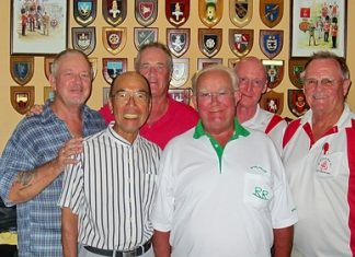Tuesday's winners, with Keith Phillips, 3rd right, wearing the biggest smile.
